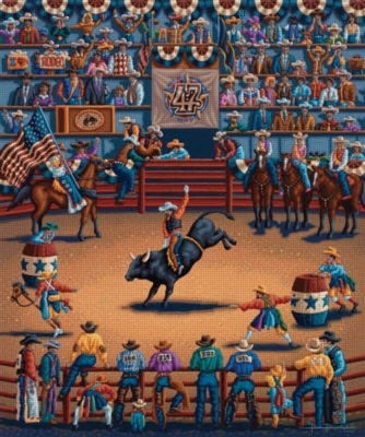 Dowdle Jigsaw Puzzles - Rodeo Days