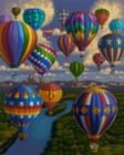 Balloon Festival - 100pc Jigsaw Puzzle by Dowdle
