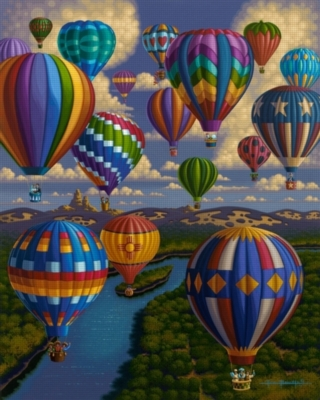 Dowdle Jigsaw Puzzles - Balloon Festival