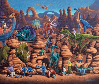 Dowdle Jigsaw Puzzles - Dinosaur Games