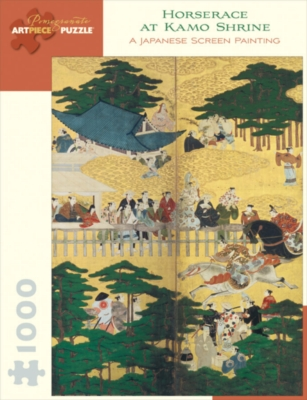 Horserace At Kamo - 1000pc Jigsaw Puzzle by Pomegranate