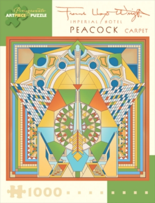 Imperial Hotel Peacock Carpet - 1000pc Jigsaw Puzzle by Pomegranate
