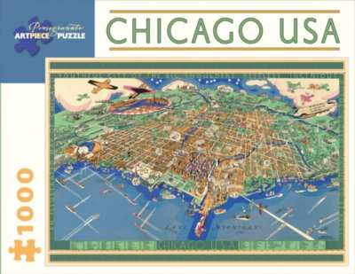 Chicago, USA - 1000pc Jigsaw Puzzle by Pomegranate