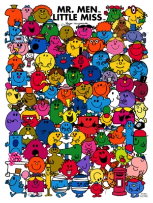 Little Miss & Mr. Men - 500pc Jigsaw Puzzle by New York Puzzle Co.