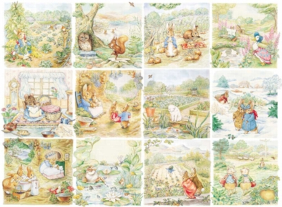 Peter Rabbit Character Vignettes - 500pc Jigsaw Puzzle by New York Puzzle Co.