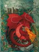 Red Dragon - 1000pc Jigsaw Puzzle by Purrfect