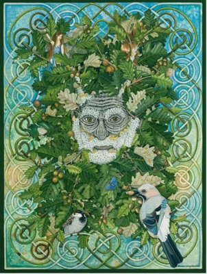 Green Man - 1000pc Jigsaw Puzzle by Purrfect