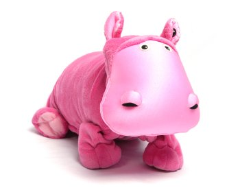 "Hada (Plush / Pillow / Blanket) - 19.5"" Hippo By Zoobie Pets"