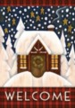 Snowy Cabin - Standard Flag by Toland