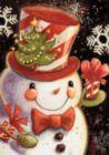 Snowflake Snowman - Garden Flag by Toland