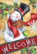 Candy Cane Snowman - Standard Flag by Toland