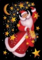Celestial Santa - Standard Flag by Toland