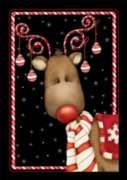 Candy Cane Reindeer - Garden Flag by Toland