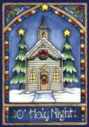 Christmas Church - Garden Flag by Toland