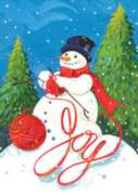 Knitting Snowman - Standard Flag by Toland