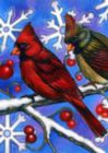 Birds 'N Snowflakes - Garden Flag by Toland
