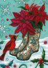 Poinsettia Boots - Garden Flag by Toland