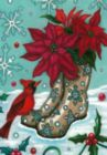 Poinsettia Boots - Standard Flag by Toland