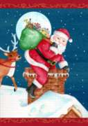 Santa Sweep - Garden Flag by Toland