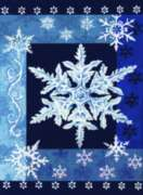 Cool Snowflakes - Garden Flag by Toland