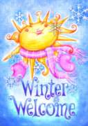 Winter Welcome - Garden Flag by Toland