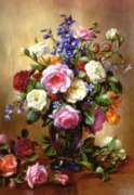 Roses in a Blue Vase - 1000pc By Castorland