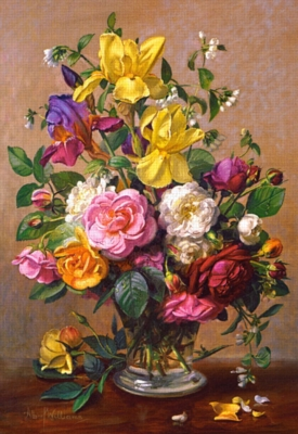 Jigsaw Puzzle - Summer Flowers in a Glass Vase - Albert Williams