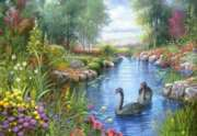 Black Swans - 1500pc Jigsaw Puzzle by Castorland
