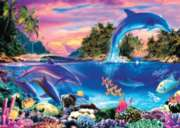 Dolphin Panorama - 1000pc Jigsaw Puzzle By Holdson