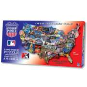 Baseball Across America - 1000pc Shaped Jigsaw Puzzle by TDC