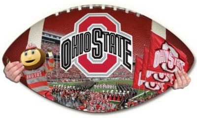 Ohio State Buckeyes - 550pc Shaped Jigsaw Puzzle by TDC