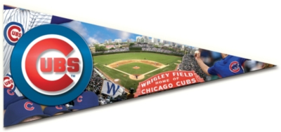 MLB: Chicago Cubs - 300pc Pennant-Shaped Jigsaw Puzzle by TDC