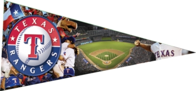 MLB: Texas Rangers - 300pc Pennant-Shaped Jigsaw Puzzle by TDC