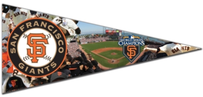 MLB: San Francisco Giants, 2010 World Series Champions - 300pc Pennant-Shaped Jigsaw Puzzle by TDC