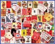 Playing Cards Collage - 1000pc Jigsaw Puzzle By White Mountain