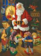 Santa & His Elves - 550pc Jigsaw Puzzle By White Mountain
