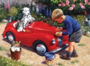 Cleaning the Car - 550pc Jigsaw Puzzle By White Mountain
