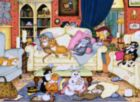 Cats In The Sitting Room - 1000pc Jigsaw Puzzle by Perre