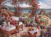 Breakfast On Veranda - 1000pc Jigsaw Puzzle by Perre