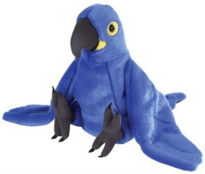 Hyacinth Macaw - 12'' Parrot By Wild Republic