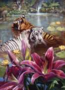 Two Tigers - 1000pc Jigsaw Puzzle by Perre