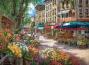 Paris Flower Market - 1000pc Jigsaw Puzzle by Perre