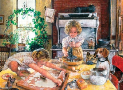 Baking Cookies - 1000pc Jigsaw Puzzle by Perre