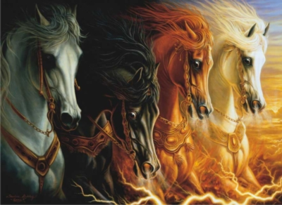 4 Horses of the Apocalypse - 1000pc Jigsaw Puzzle by Perre