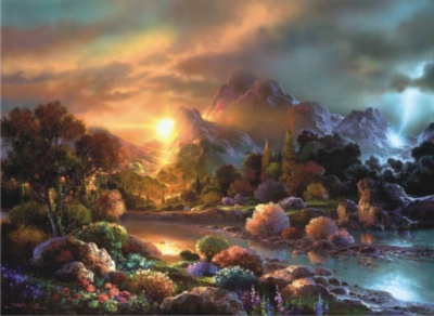 Sunset Creek - 1000pc Jigsaw Puzzle by Perre