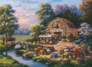 Flower Market - 1000pc Jigsaw Puzzle by Perre