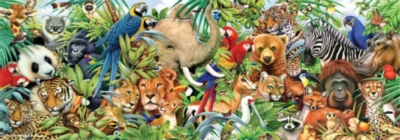 Jungle Panorama - 1000pc Jigsaw Puzzle by Perre