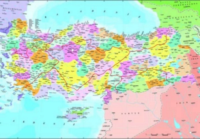 Turkey Political Map - 260pc Jigsaw Puzzle by Perre