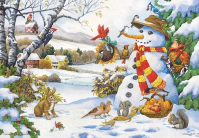 Frosty's Giftrs - 260pc Jigsaw Puzzle by Perre