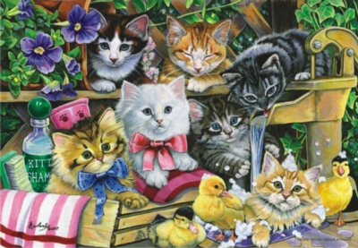 Perre Jigsaw Puzzles - Bathtime Kittens